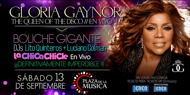 Gloria Gaynor llega a Córdoba!